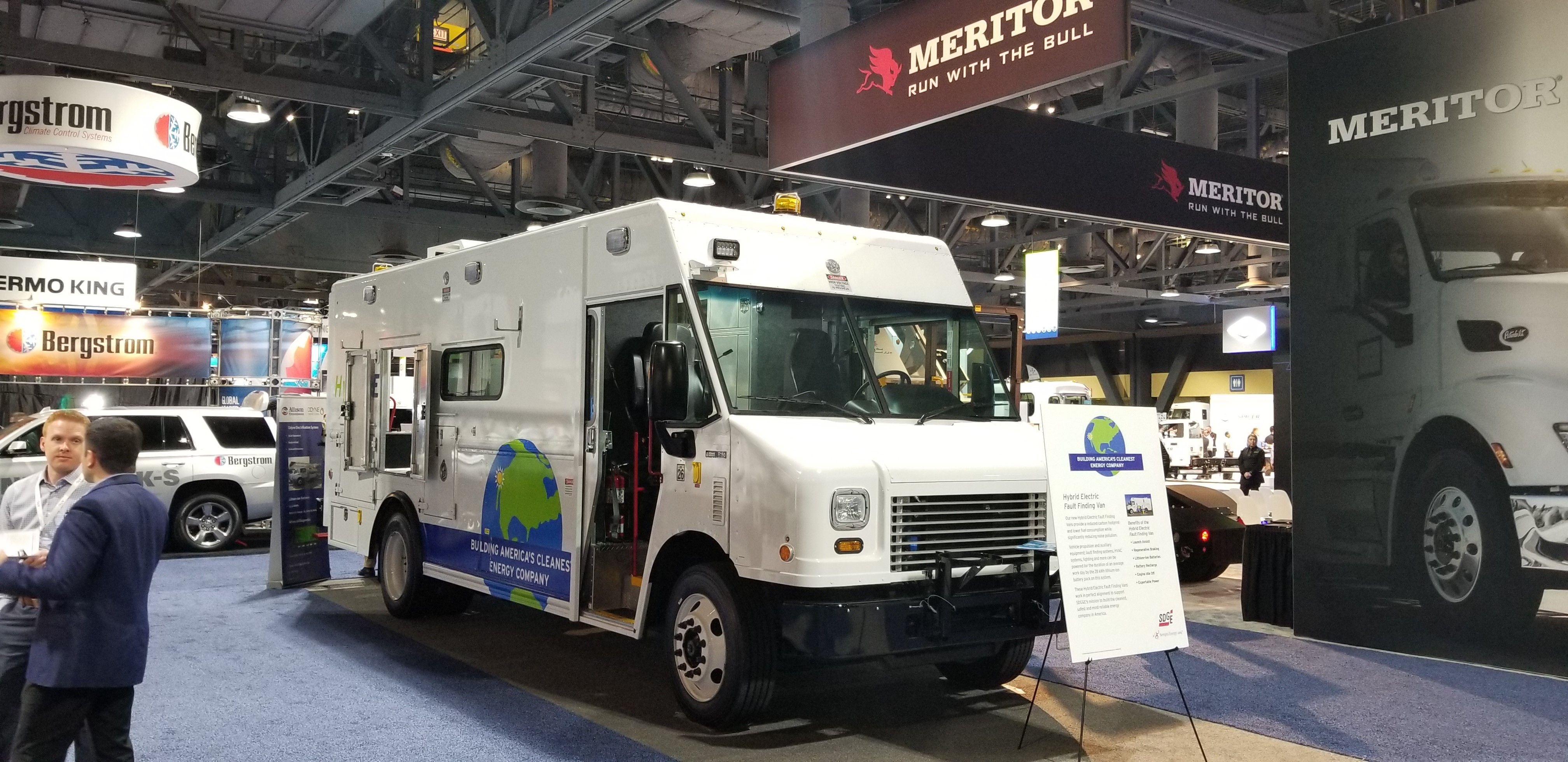 SDG&E's Electric Hybrid Fault-Finding Van on Display at the ACT EXpo