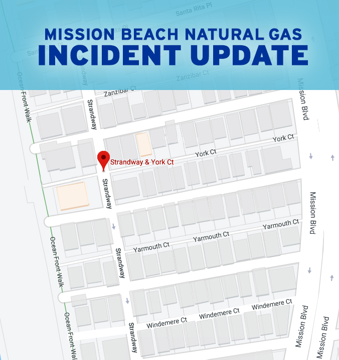 Mission Beach Natural Gas Incident Update