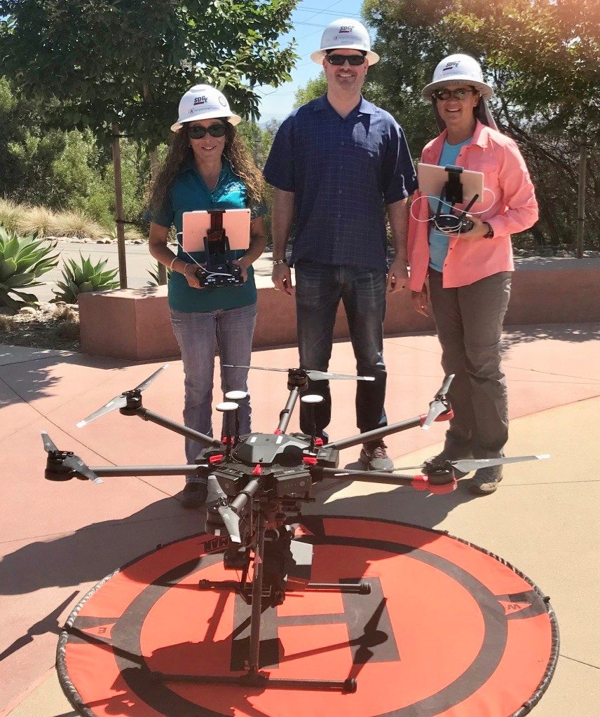 Team to use new drone tech to inspect corona discharge