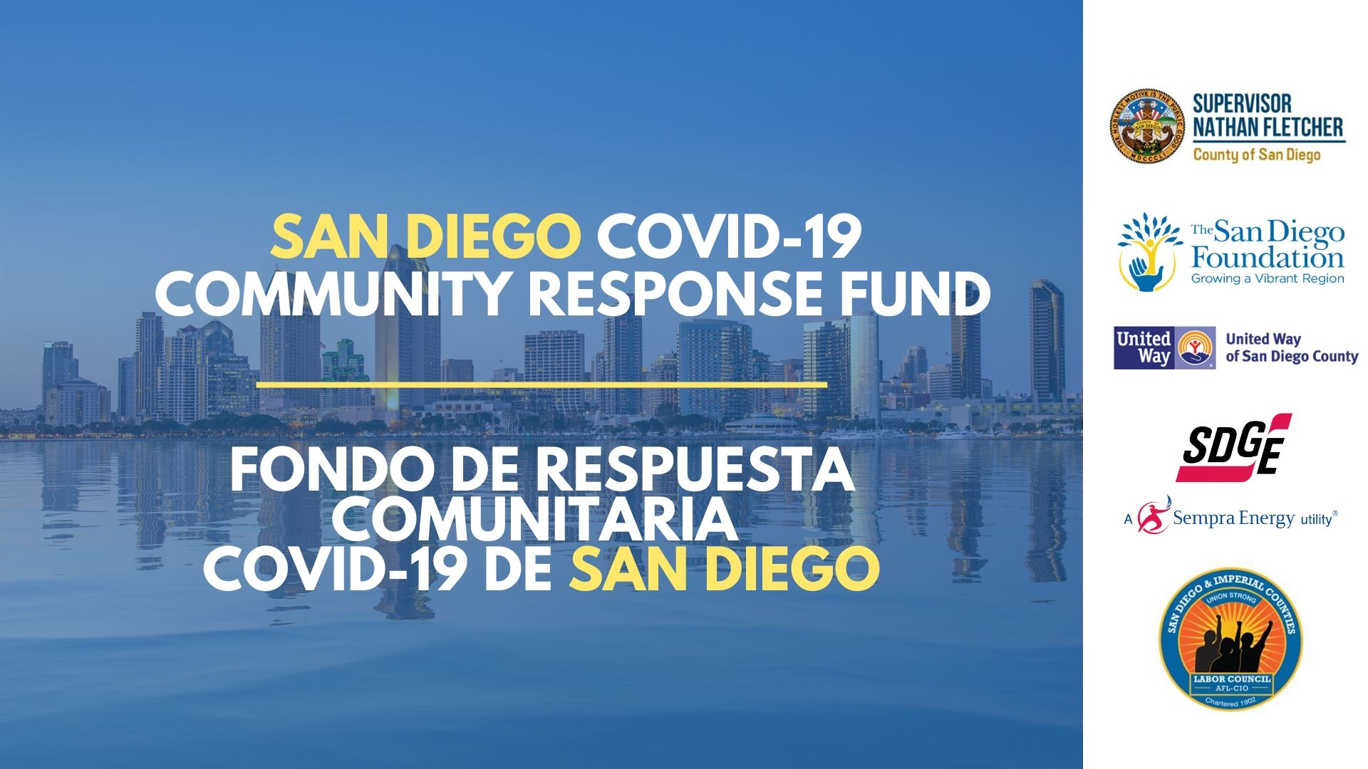 San Diego Leaders Launch COVID-19 Community Response Fund to Address San Diegans' Growing Needs Amid Coronavirus Outbreak
