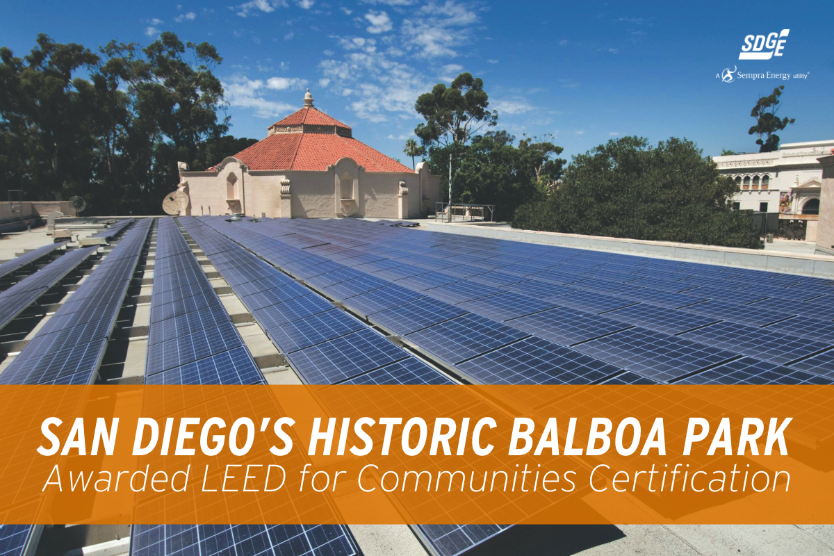 San Diego's Historic Balboa Park Awarded LEED for Communities Certification