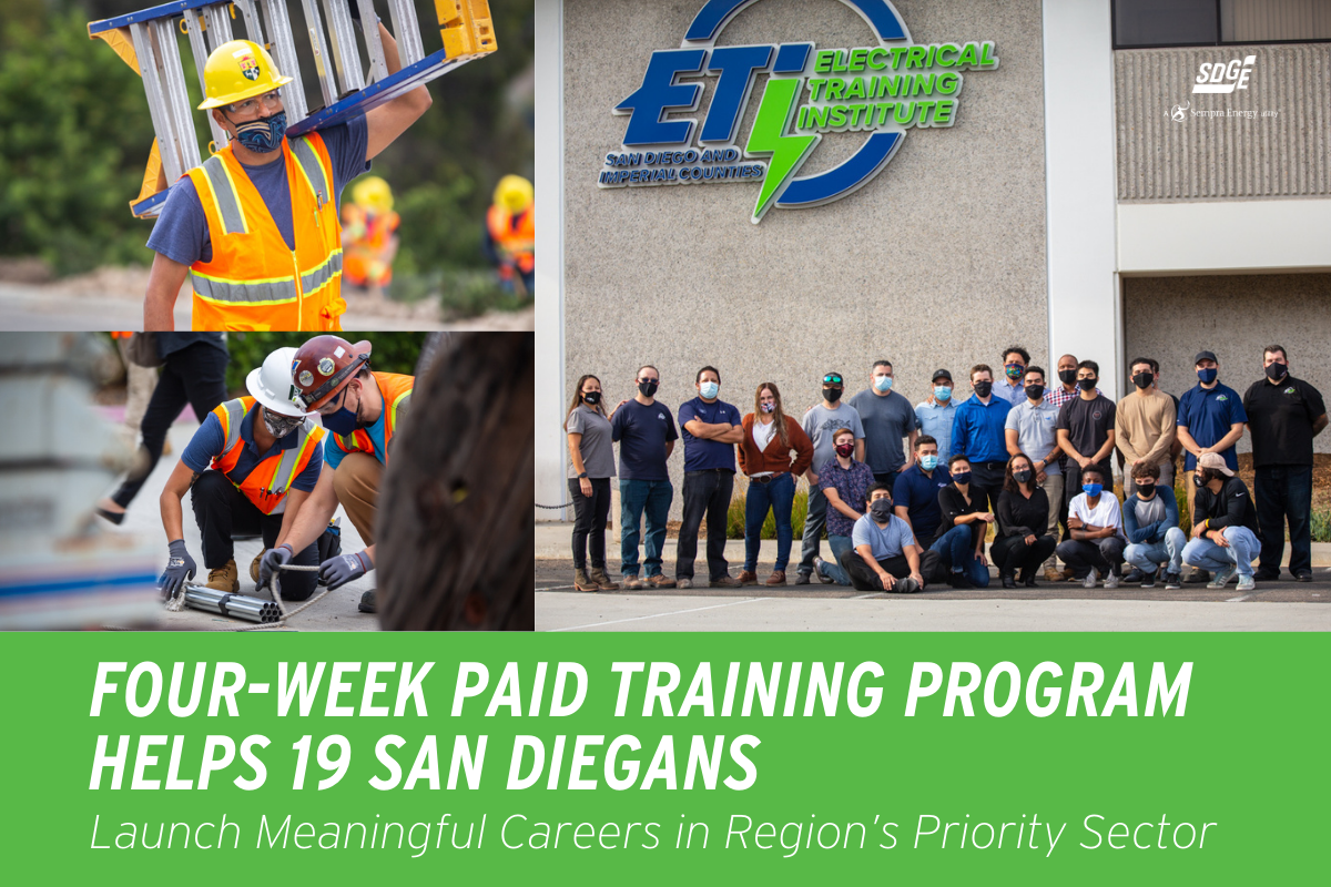 Four-Week Paid Training Program Helps 19 San Diegans Launch Meaningful Careers in Region's Priority Sector