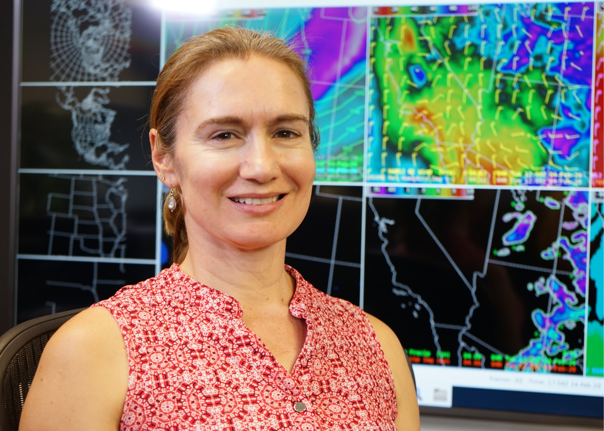 Carrie Bowers in the SDG&E Weather Center