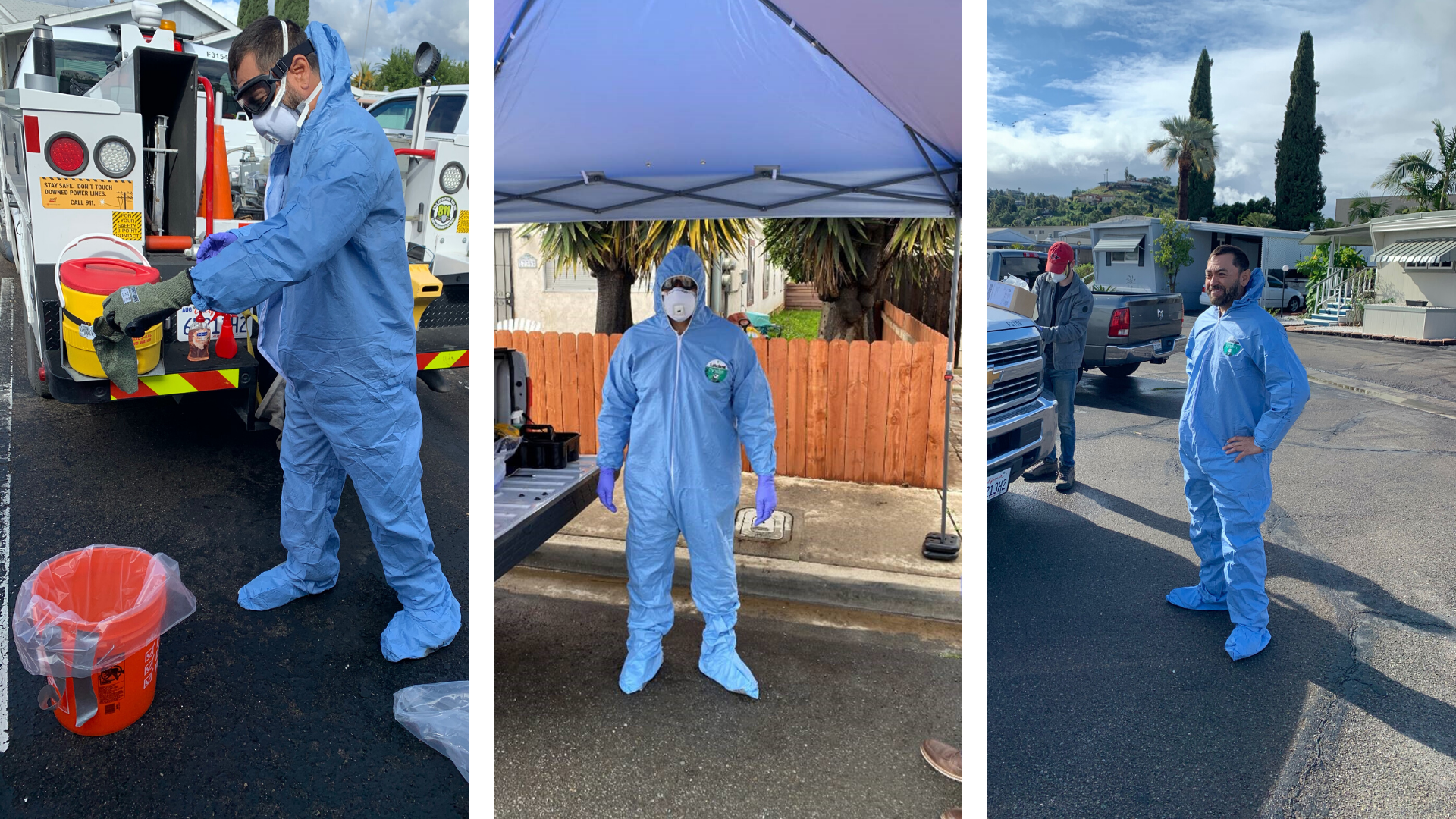 SDG&E employees wear personal protective equipment during COVID-19 crisis.