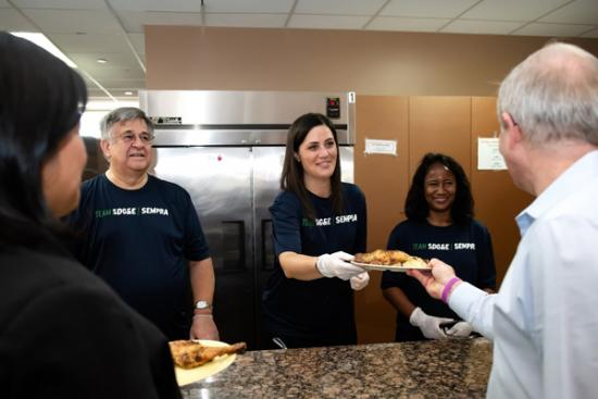 SDG&E Employees Volunteering to Serve Meals at Ronald McDonald House