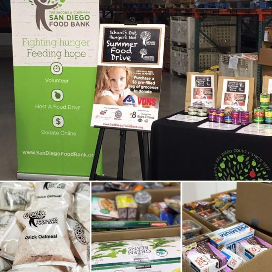 Collage of Food Bank photos