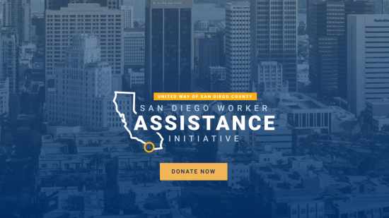 United Way of San Diego County Creates Emergency San Diego Worker Assistance Initiative in Response to COVID-19 Pandemic