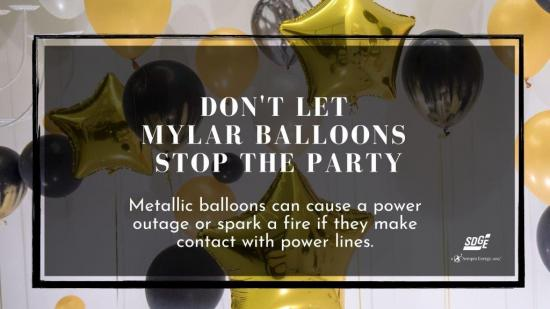 Mylar balloon safety