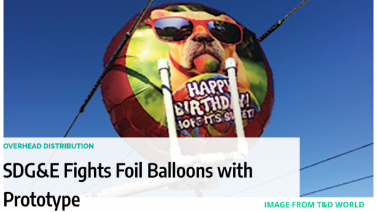 SDG&E Prototype Balloon Featured in T&D World