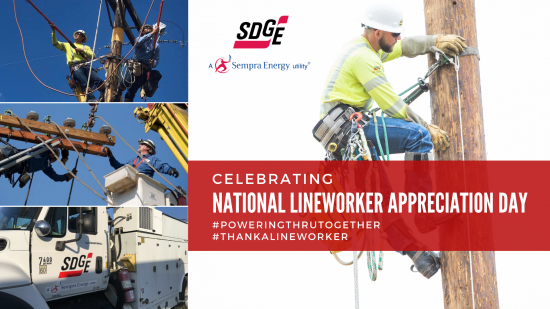 #ThankALineworker for National Lineworker Appreciation Day