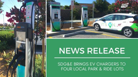 SDG&E Brings EV Chargers to Four Local Park & Ride Lots