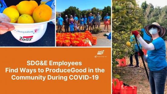 SDG&E Employees Find Ways to ProduceGood in the Community During COVID-19