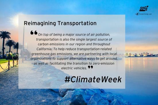 Day 2 of Climate Week 2020: Reimagining Transportation.