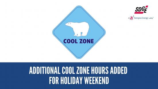 Additional Cool Zone Hours Added For Holiday Weekend