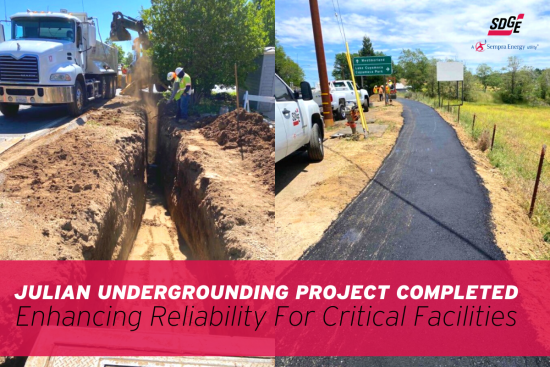 Julian Undergrounding Project Completed, Enhancing Reliability for Critical Facilities