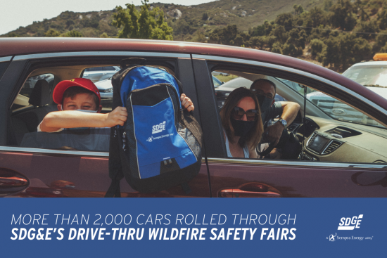 More than 2,000 Cars Rolled Through SDG&E's Drive-Thru Wildfire Safety FairsMore than 2,000 Cars Rolled Through SDG&E's Drive-Thru Wildfire Safety Fairs