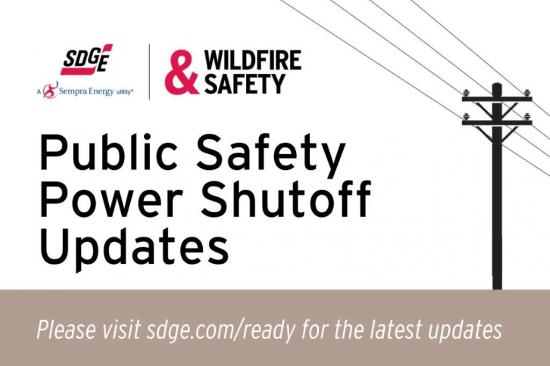 Public Safety Power Shutoff Updates