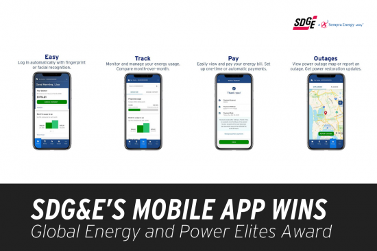 SDG&E's mobile app wins Global Energy and Power Elites Award