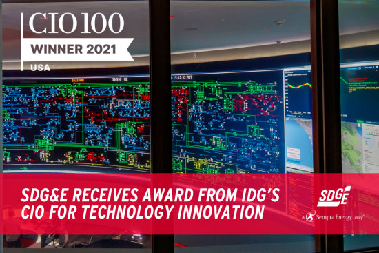 SDG&E Receives Award from IDG's CIO for Technology Innovation