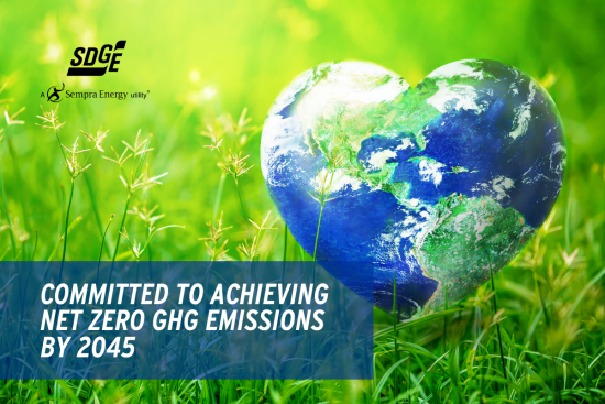 SDG&E's Commitment to Achieving Net Zero GHG Emissions by 2045
