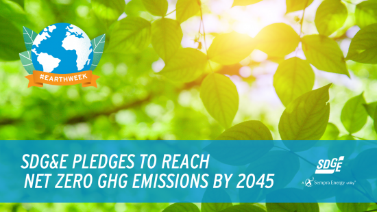 SDG&E Pledges To Reach  Net Zero GHG Emissions By 2045