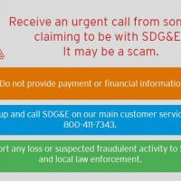 "SDG&E Urges Customers to be on ""High Alert"" for Scam Artists"