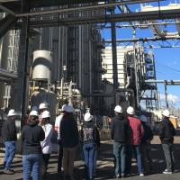 Cal State San Marcos students touring the Palomar Energy Center