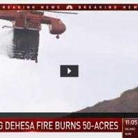 SkyMaverick fighting Dehesa Fire