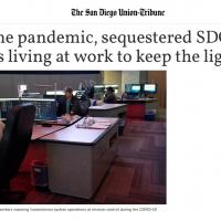 Hard Work of Sequestered SDG&E Employees Featured by San Diego Union Tribune