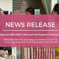 Grant Expands ElderHelp's Outreach and Support to Seniors In Need
