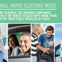 National Drive Electric Week | Leading By Example: EEI Member Companies Collectively On Track To Electrify More Than One-Third Of Their Fleet Vehicles By 2030